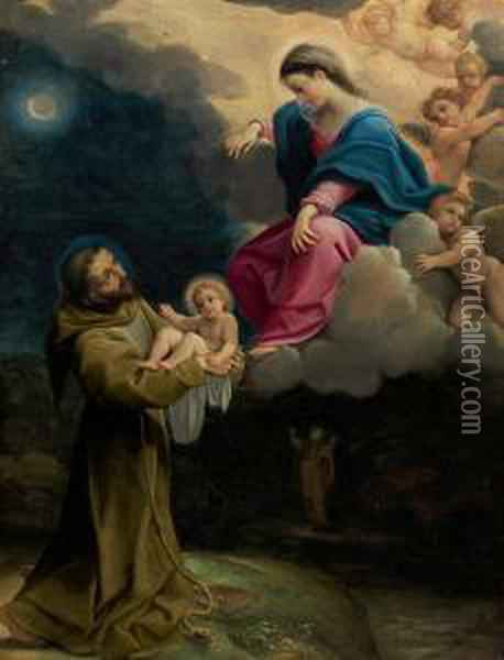 The Vision Of Saint Francis Oil Painting - Lodovico Carracci