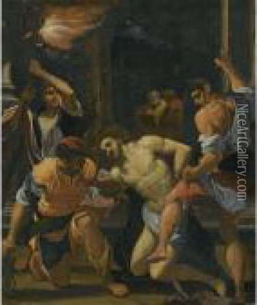 The Flagellation Of Christ Oil Painting - Lodovico Carracci
