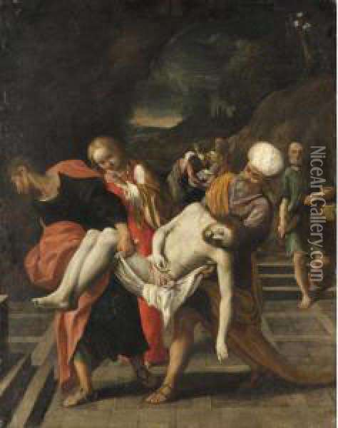 The Entombment Oil Painting - Lodovico Carracci