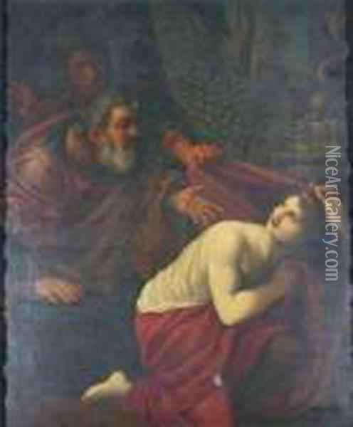 Susannah And The Elders Oil Painting - Lodovico Carracci