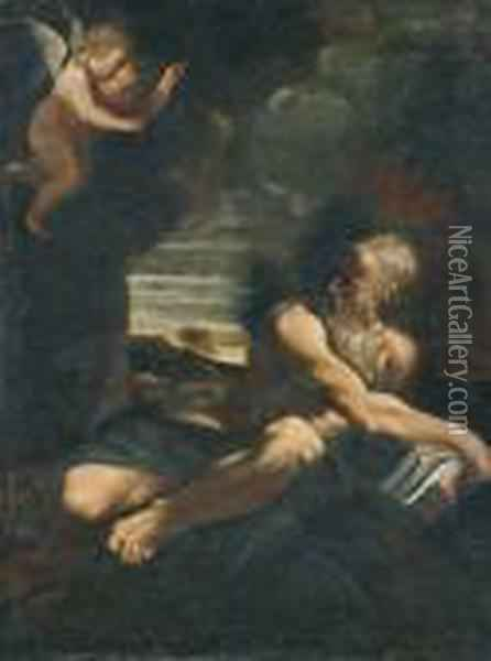 Saint Jerome In The Wilderness Oil Painting - Lodovico Carracci