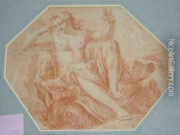 An Allegorical Figure Possibly For A Ceiling Design Oil Painting - Lodovico Carracci