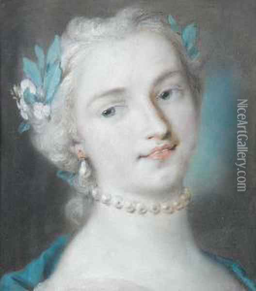Portrait Of A Young Woman Oil Painting - Rosalba Carriera