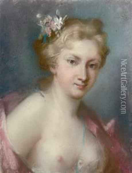 Portrait Of A Young Girl Oil Painting - Rosalba Carriera