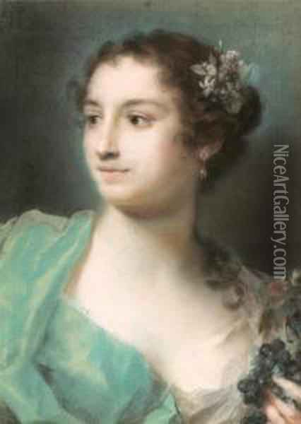 Allegory Of Autumn. Oil Painting - Rosalba Carriera
