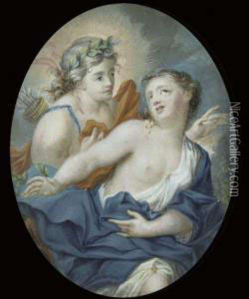Apollo And Daphne Oil Painting - Rosalba Carriera