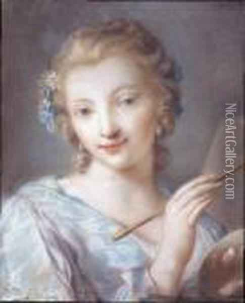 Ritratto Di Giovane Pittrice Oil Painting - Rosalba Carriera