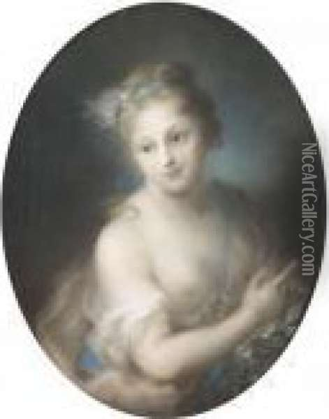 A Nymph Oil Painting - Rosalba Carriera