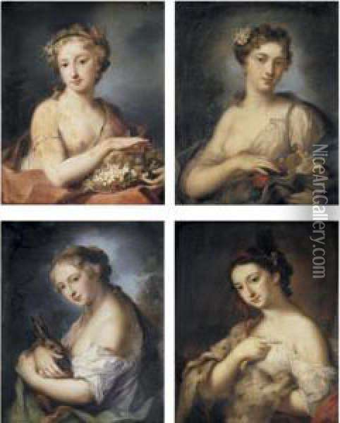 The Four Seasons Oil Painting - Rosalba Carriera