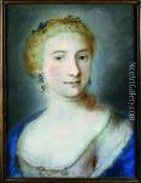 Portrait Of A Venetian Lady Oil Painting - Rosalba Carriera