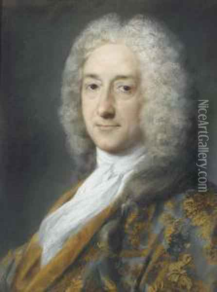 Portrait Of A Man, Bust-length Oil Painting - Rosalba Carriera