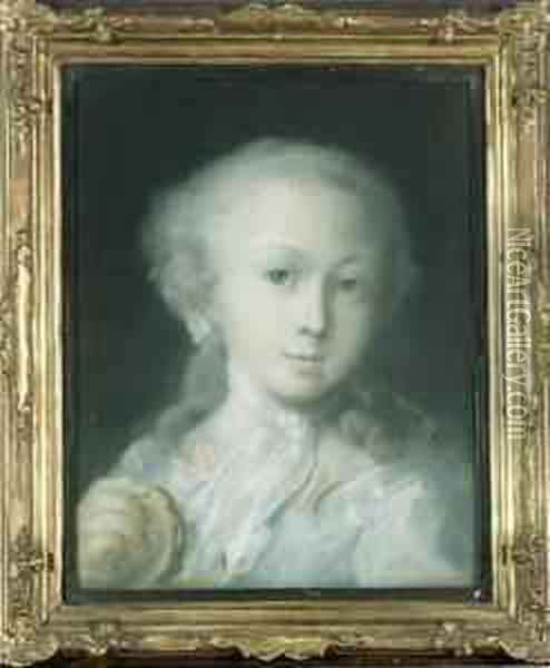 Portrait Of A Child Oil Painting - Rosalba Carriera