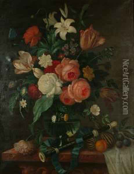 Still Lives Of Flowers Oil Painting - Pieter Casteels