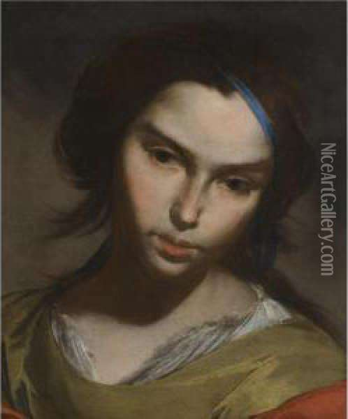 Portrait Of A Girl Oil Painting - Bernardo Cavallino
