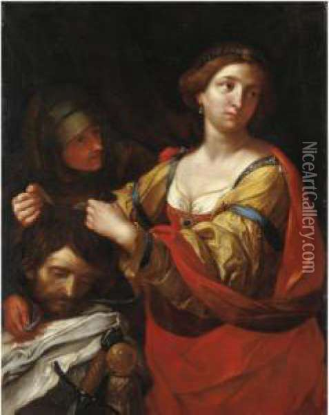 Giuditta E Oloferne Oil Painting - Giovanni Domenico Cerrini