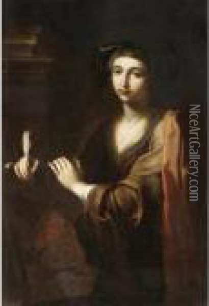 The Erythraean Sibyl Oil Painting - Giovanni Domenico Cerrini