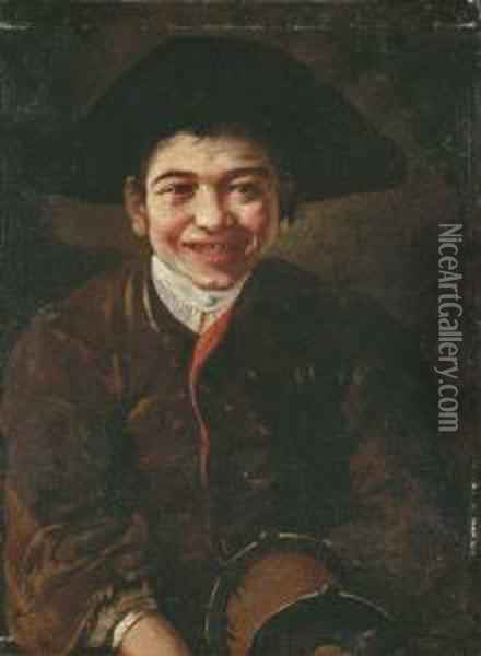 A Laughing Boy Oil Painting - Giacomo Ceruti (Il Pitocchetto)