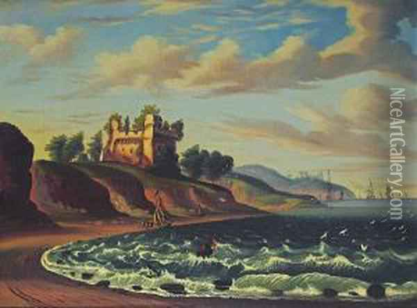 Castle By The Sea Oil Painting - Thomas Chambers