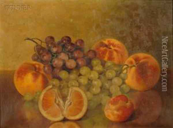 Still Life With Fruit Oil Painting - Bryant Chapin