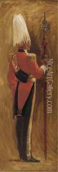 Portrait Of An Officer Of Her Majesty's Body Guard Of Thehonourable Oil Painting - John Charlton