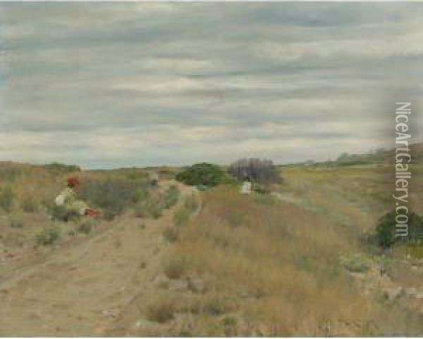 The Old Sand Road Oil Painting - William Merritt Chase