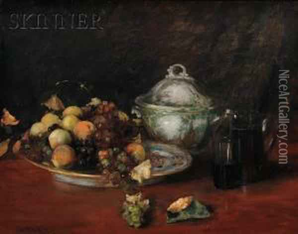 Still Life: Fruit Oil Painting - William Merritt Chase