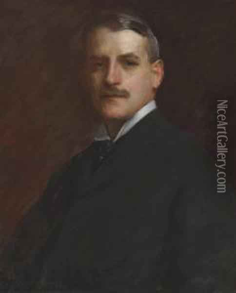 Portrait Of William B. Dickson Oil Painting - William Merritt Chase
