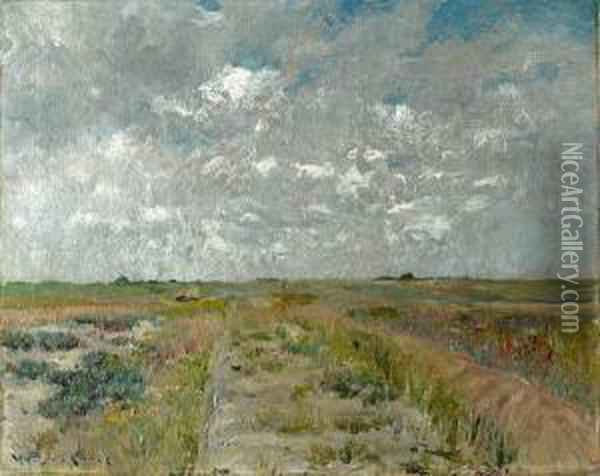 Long Island Landscape Oil Painting - William Merritt Chase
