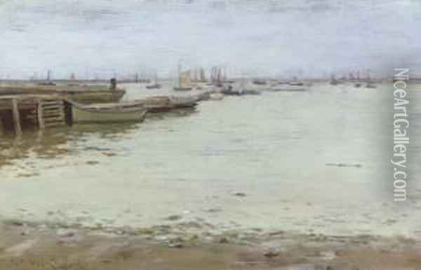 Gowanus Bay Oil Painting - William Merritt Chase
