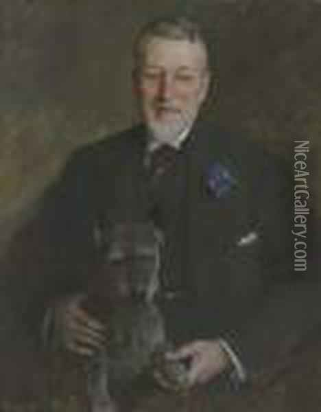 Portrait Of Mr. Francis Guerin Lloyd Oil Painting - William Merritt Chase