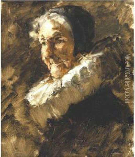 The Grand Old Lady Oil Painting - William Merritt Chase