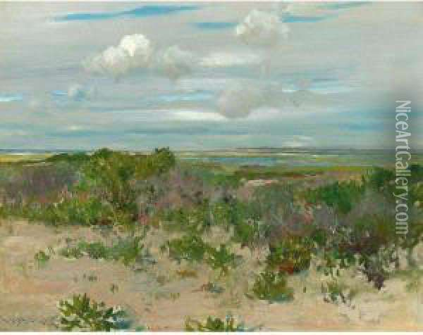 Shinnecock Landscape Oil Painting - William Merritt Chase