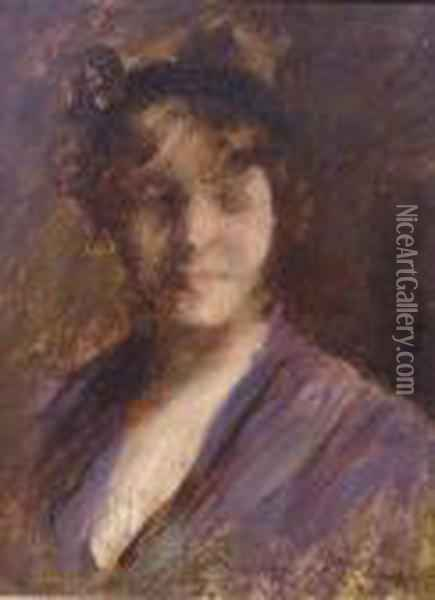 Helen Velasquez Chase, Daughter Of The Artist Oil Painting - William Merritt Chase