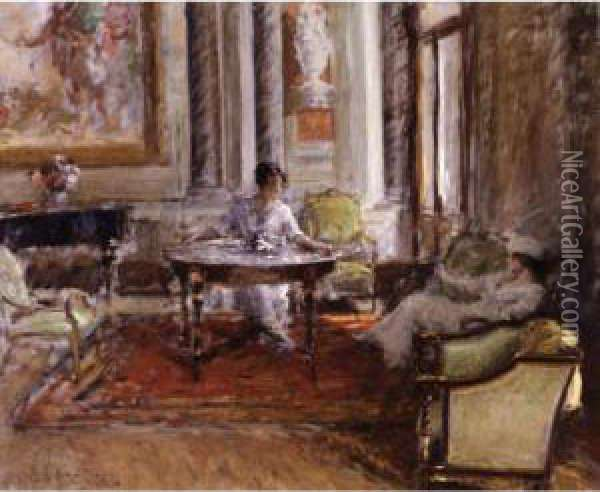 Friendly Advice Oil Painting - William Merritt Chase