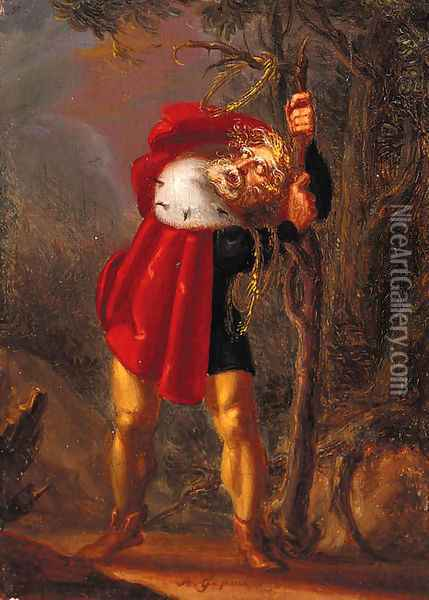 King Lear Oil Painting - William Blake