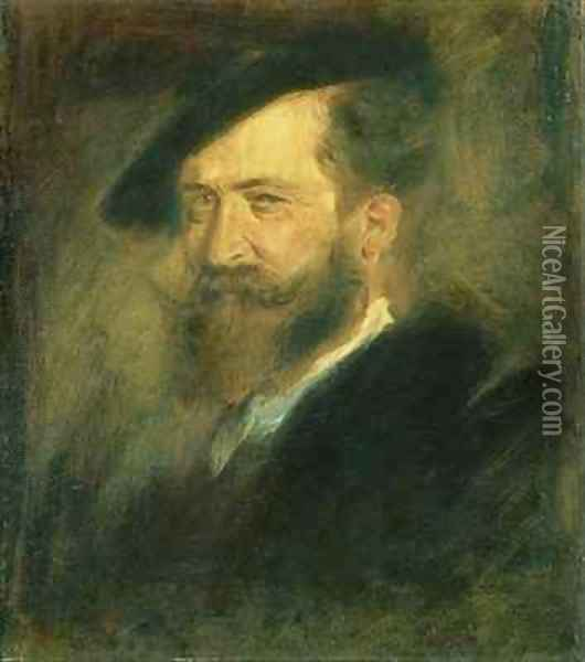 Portrait of the Artist Wilhelm Busch 1832-1908 Oil Painting - Wilhelm Busch