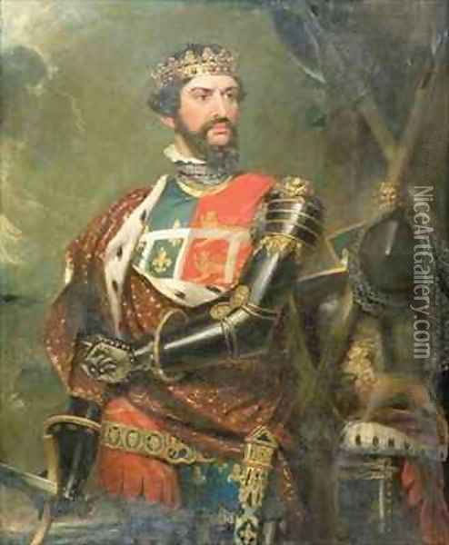Portrait of Edward, Prince of Wales 1330-76 Oil Painting - Benjamin Burnell