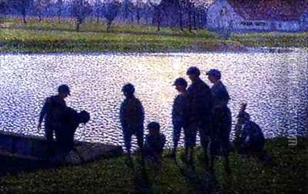 The Schoolboys Oil Painting - Evariste-Gustave Buck