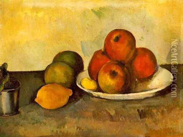 Still Life With Apples Oil Painting - Paul Cezanne