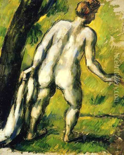 Bather From The Back Oil Painting - Paul Cezanne