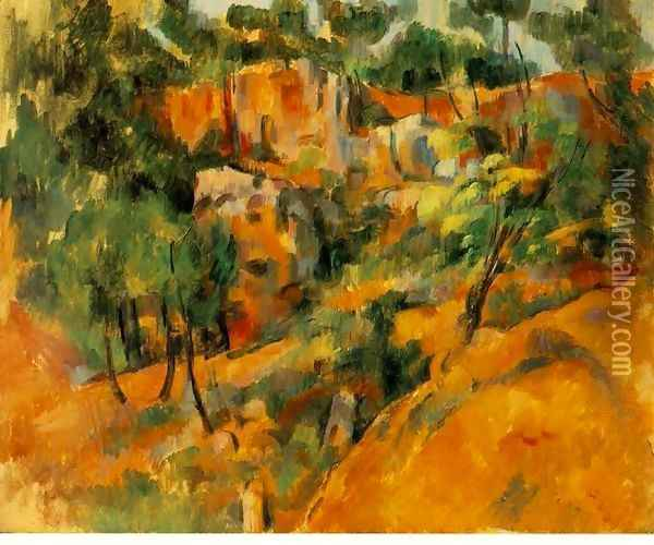 Corner Of The Quarry Oil Painting - Paul Cezanne