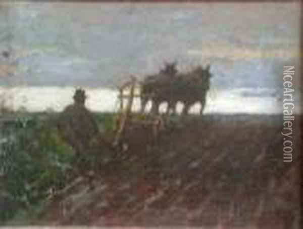 The Lonely Furrow Oil Painting - James Elder Christie