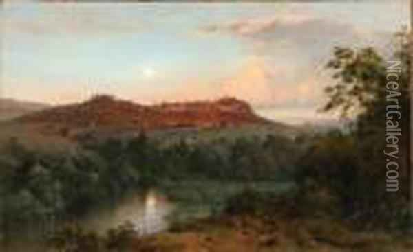 Bee Craft Mountain From Church's Farm Oil Painting - Frederic Edwin Church