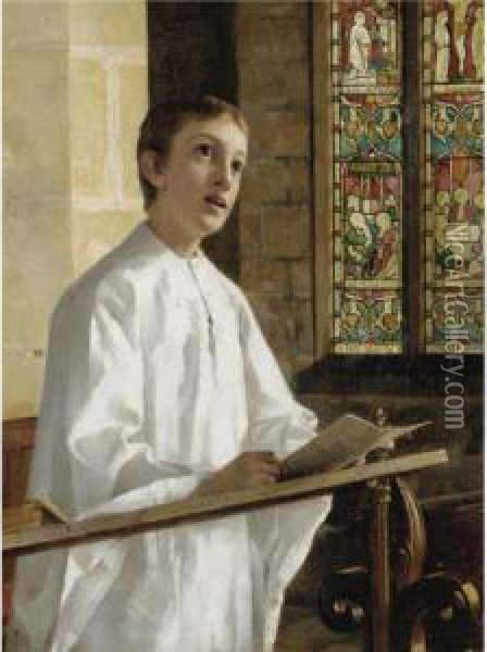 The Choir Boy Oil Painting - Joseph Clark
