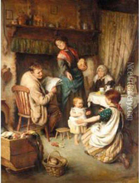 The First Steps Oil Painting - Joseph Clark