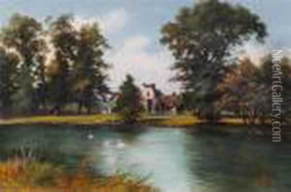 Signed And Dated 1888 Oil Painting - Octavius Thomas Clark
