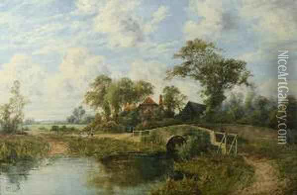 Summer Day On The English Countryside Oil Painting - Octavius Thomas Clark