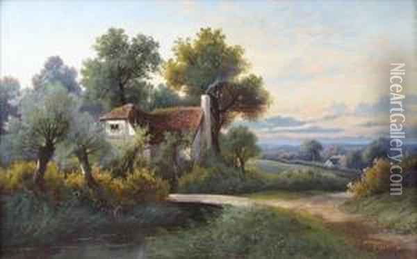 Figure On Ariverside Path Before