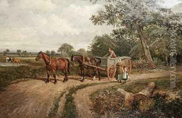The Wayside Discussion Oil Painting - Joseph Clark