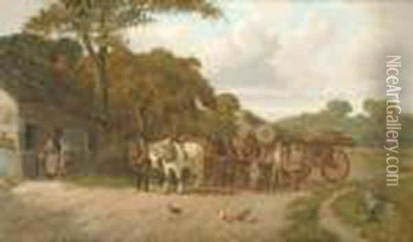 A Perfectday Oil Painting - Joseph Clark